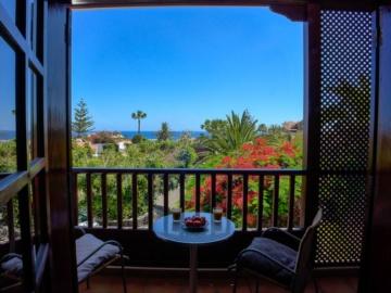 Tolle Aussicht vom Balkon des Studio Amistad