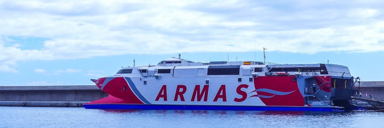 Naviera Armas – Autofähre von Teneriffa nach Valle Gran Rey