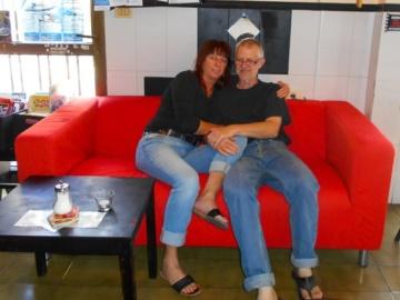 Bernd und Sabrina, Besitzer des Bistro in Vueltas