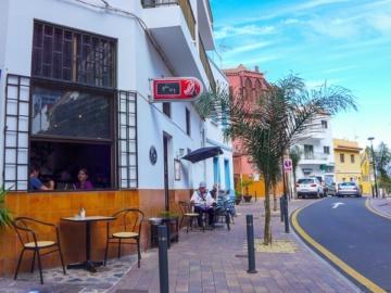 Angenehmes Ambiente im Bistro in Vueltas