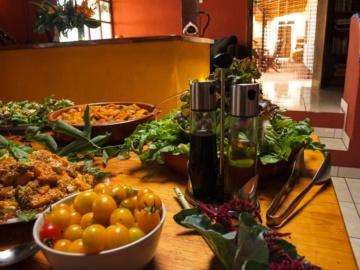 Vegetarisches Essen auf der Finca Argayall