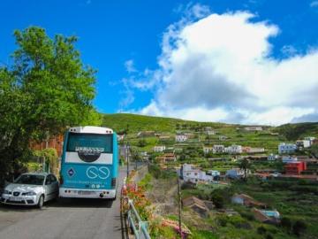 Unterwegs mit dem Gomera-Bus.