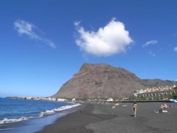 Entspannen am Strand im Valle Gran Rey im Südwesten von La Gomera